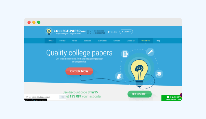 College-paper.org website