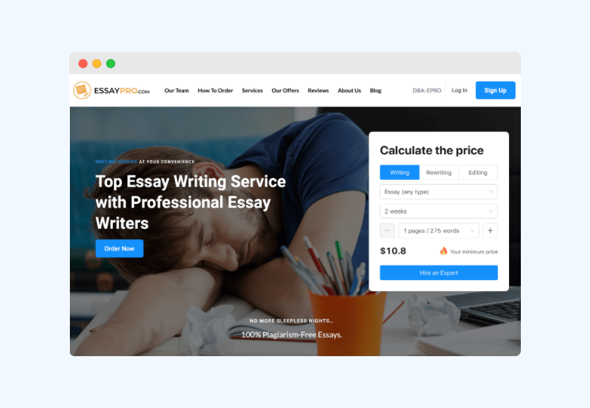 review of essaypro.com