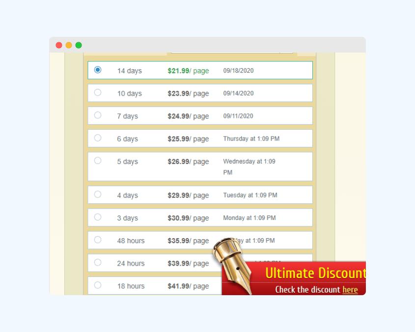 PremierEssay prices